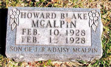 MCALPIN, HOWARD BLAKE - Boone County, Arkansas | HOWARD BLAKE MCALPIN - Arkansas Gravestone Photos