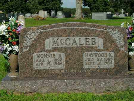 MCCALEB, HAYWOOD K. - Boone County, Arkansas | HAYWOOD K. MCCALEB - Arkansas Gravestone Photos