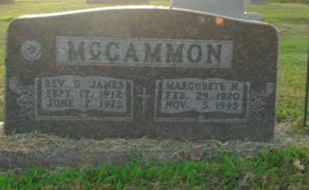 MCCAMMON, D. JAMES - Boone County, Arkansas | D. JAMES MCCAMMON - Arkansas Gravestone Photos