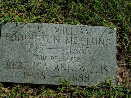 MCCLUNG, WILLIAM EDDINGTON - Boone County, Arkansas | WILLIAM EDDINGTON MCCLUNG - Arkansas Gravestone Photos