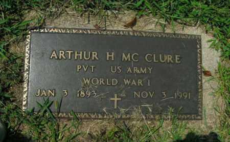 MCCLURE  (VETERAN WWI), ARTHUR H. - Boone County, Arkansas | ARTHUR H. MCCLURE  (VETERAN WWI) - Arkansas Gravestone Photos
