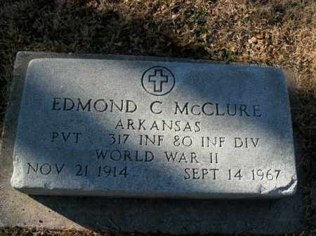 MCCLURE  (VETERAN WWII), EDMOND C - Boone County, Arkansas | EDMOND C MCCLURE  (VETERAN WWII) - Arkansas Gravestone Photos