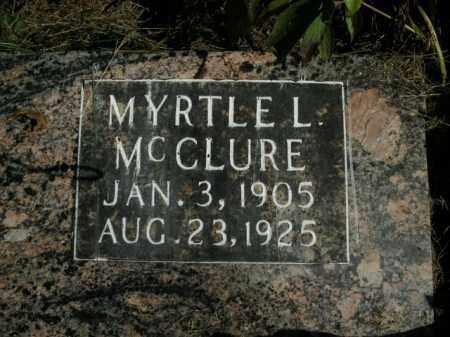 MCCLURE, MYRTLE L. - Boone County, Arkansas | MYRTLE L. MCCLURE - Arkansas Gravestone Photos