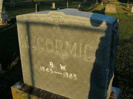 MCCORMICK, B.W. - Boone County, Arkansas | B.W. MCCORMICK - Arkansas Gravestone Photos