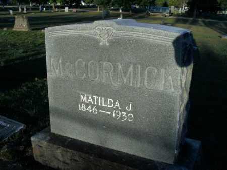 MCCORMICK, MATILDA J. - Boone County, Arkansas | MATILDA J. MCCORMICK - Arkansas Gravestone Photos
