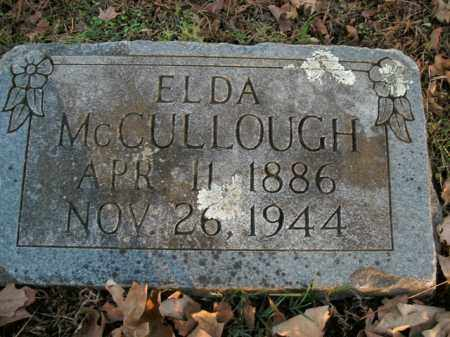 MCCULLOUGH, ELDA - Boone County, Arkansas | ELDA MCCULLOUGH - Arkansas Gravestone Photos