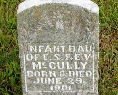 MCCULLY, INFANT DAUGHTER - Boone County, Arkansas | INFANT DAUGHTER MCCULLY - Arkansas Gravestone Photos