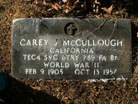 MCCULLOUGH  (VETERAN WWII), CAREY JUDSON - Boone County, Arkansas | CAREY JUDSON MCCULLOUGH  (VETERAN WWII) - Arkansas Gravestone Photos