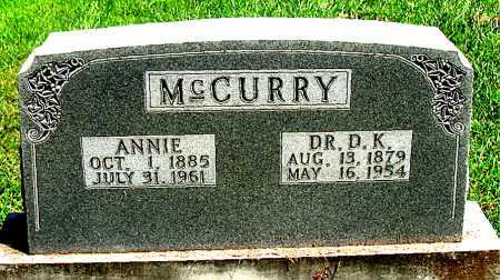 MCCURRY, D.K. - Boone County, Arkansas | D.K. MCCURRY - Arkansas Gravestone Photos