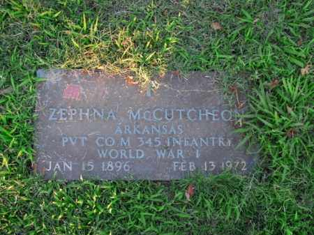 MCCUTCHEON  (VETERAN WWI), ZEPHNA - Boone County, Arkansas | ZEPHNA MCCUTCHEON  (VETERAN WWI) - Arkansas Gravestone Photos