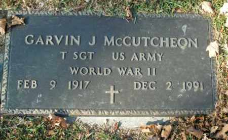 MCCUTCHEON  (VETERAN WWII), GARVIN J - Boone County, Arkansas | GARVIN J MCCUTCHEON  (VETERAN WWII) - Arkansas Gravestone Photos