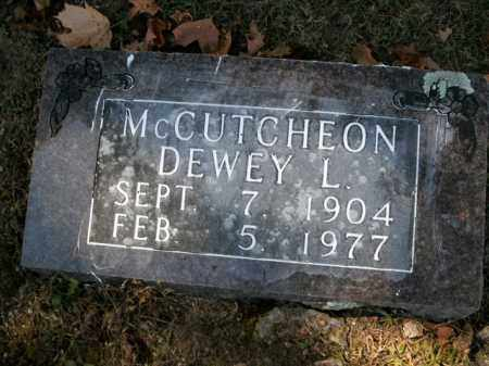MCCUTCHEON, DEWEY L. - Boone County, Arkansas | DEWEY L. MCCUTCHEON - Arkansas Gravestone Photos