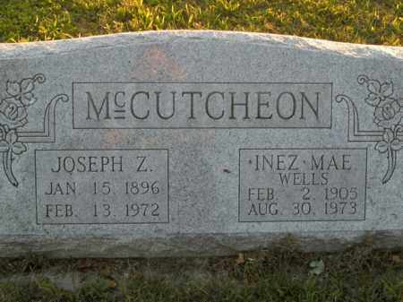 WELLS MCCUTCHEON, INEZ MAE - Boone County, Arkansas | INEZ MAE WELLS MCCUTCHEON - Arkansas Gravestone Photos