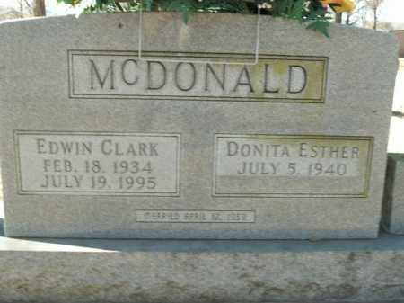MCDONALD, EDWIN CLARK - Boone County, Arkansas | EDWIN CLARK MCDONALD - Arkansas Gravestone Photos