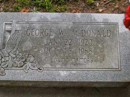 MCDONALD, GEORGE W. - Boone County, Arkansas | GEORGE W. MCDONALD - Arkansas Gravestone Photos