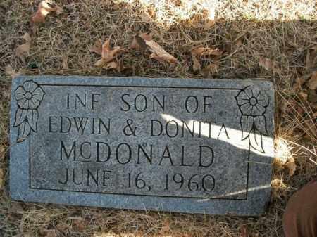 MCDONALD, INFANT SON - Boone County, Arkansas | INFANT SON MCDONALD - Arkansas Gravestone Photos
