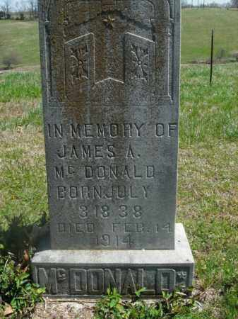 MCDONALD, JAMES A. - Boone County, Arkansas | JAMES A. MCDONALD - Arkansas Gravestone Photos