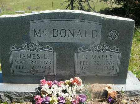 MCDONALD, JAMES L. - Boone County, Arkansas | JAMES L. MCDONALD - Arkansas Gravestone Photos