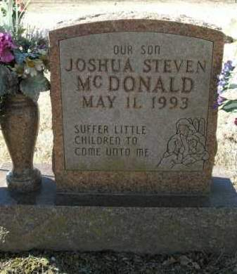 MCDONALD, JOSHUA STEVEN - Boone County, Arkansas | JOSHUA STEVEN MCDONALD - Arkansas Gravestone Photos