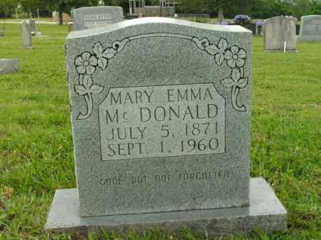 MCDONALD, MARY EMMA - Boone County, Arkansas | MARY EMMA MCDONALD - Arkansas Gravestone Photos