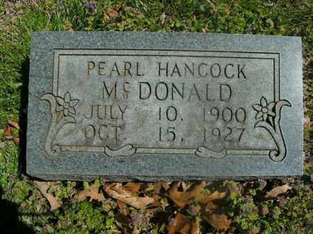 HANCOCK MCDONALD, PEARL - Boone County, Arkansas | PEARL HANCOCK MCDONALD - Arkansas Gravestone Photos