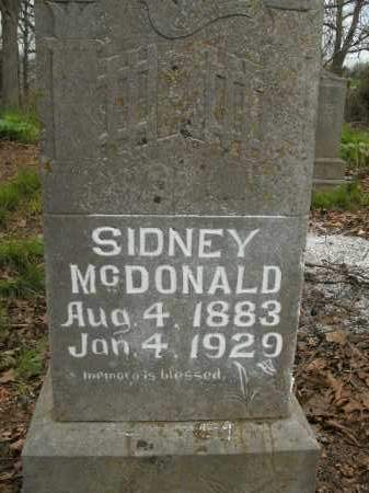 MCDONALD, SIDNEY - Boone County, Arkansas | SIDNEY MCDONALD - Arkansas Gravestone Photos