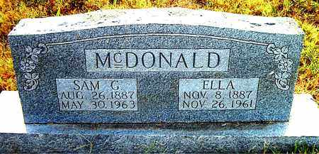 MCDONALD, SAM  G. - Boone County, Arkansas | SAM  G. MCDONALD - Arkansas Gravestone Photos