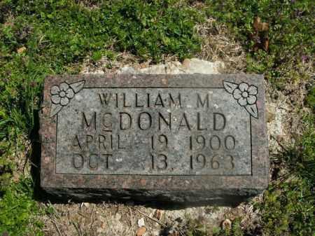 MCDONALD, WILLIAM M. - Boone County, Arkansas | WILLIAM M. MCDONALD - Arkansas Gravestone Photos