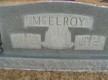 MCELROY, JAMES U. - Boone County, Arkansas | JAMES U. MCELROY - Arkansas Gravestone Photos