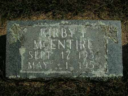MCENTIRE, KIRBY F. - Boone County, Arkansas | KIRBY F. MCENTIRE - Arkansas Gravestone Photos