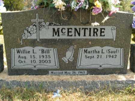 MCENTIRE, WILLIE L. - Boone County, Arkansas | WILLIE L. MCENTIRE - Arkansas Gravestone Photos