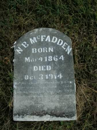 MCFADDEN, N.B. - Boone County, Arkansas | N.B. MCFADDEN - Arkansas Gravestone Photos