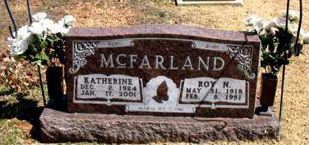 MCFARLAND, ROY  N. - Boone County, Arkansas | ROY  N. MCFARLAND - Arkansas Gravestone Photos