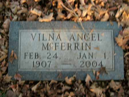 MCFERRIN, VILNA ANGEL - Boone County, Arkansas | VILNA ANGEL MCFERRIN - Arkansas Gravestone Photos
