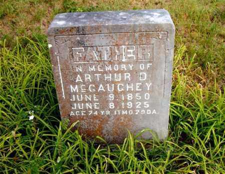 MCGAUGHEY, ARTHUR D. - Boone County, Arkansas | ARTHUR D. MCGAUGHEY - Arkansas Gravestone Photos