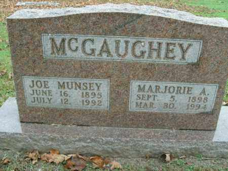 MCGAUGHEY, JOE MUNSEY - Boone County, Arkansas | JOE MUNSEY MCGAUGHEY - Arkansas Gravestone Photos