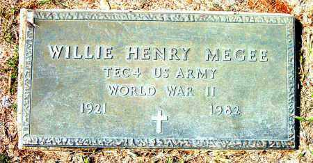 MEGEE  (VETERAN WWII), WILLIE HENRY - Boone County, Arkansas | WILLIE HENRY MEGEE  (VETERAN WWII) - Arkansas Gravestone Photos