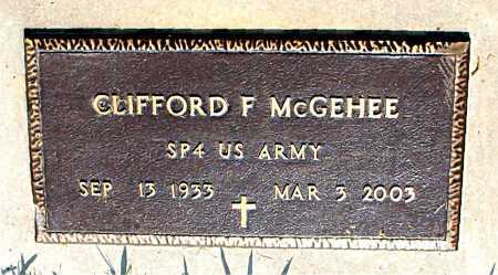 MCGEHEE  (VETERAN), CLIFFORD FORNEY - Boone County, Arkansas | CLIFFORD FORNEY MCGEHEE  (VETERAN) - Arkansas Gravestone Photos
