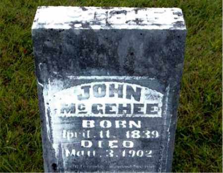 MCGEHEE, JOHN - Boone County, Arkansas | JOHN MCGEHEE - Arkansas Gravestone Photos
