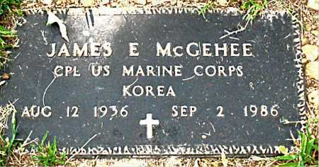 MCGEHEE  (VETERAN KOR), JAMES E - Boone County, Arkansas | JAMES E MCGEHEE  (VETERAN KOR) - Arkansas Gravestone Photos
