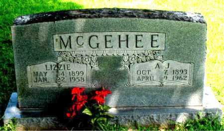 MCGEHEE, A.J. - Boone County, Arkansas | A.J. MCGEHEE - Arkansas Gravestone Photos