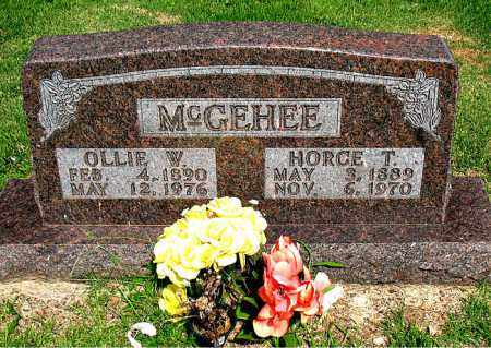 MCGEHEE, HORACE T. - Boone County, Arkansas | HORACE T. MCGEHEE - Arkansas Gravestone Photos