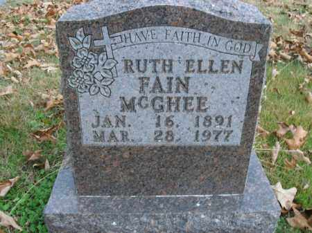 MCGHEE, RUTH ELLEN - Boone County, Arkansas | RUTH ELLEN MCGHEE - Arkansas Gravestone Photos