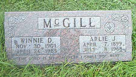 MCGILL, ARLIE  J. - Boone County, Arkansas | ARLIE  J. MCGILL - Arkansas Gravestone Photos