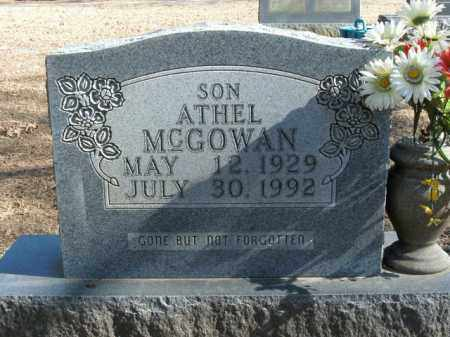 MCGOWAN, ATHEL - Boone County, Arkansas | ATHEL MCGOWAN - Arkansas Gravestone Photos