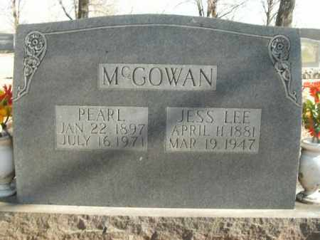 MCGOWAN, JESS LEE - Boone County, Arkansas | JESS LEE MCGOWAN - Arkansas Gravestone Photos