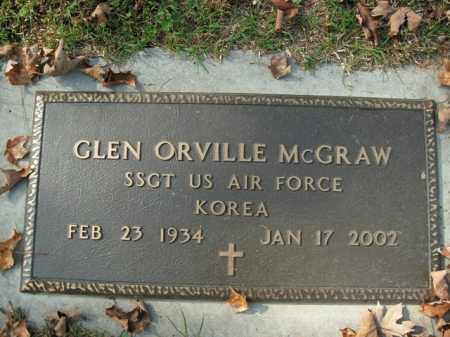 MCGRAW  (VETERAN KOR), GLEN ORVILLE - Boone County, Arkansas | GLEN ORVILLE MCGRAW  (VETERAN KOR) - Arkansas Gravestone Photos