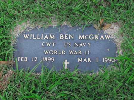 MCGRAW  (VETERAN WWII), WILLIAM BEN - Boone County, Arkansas | WILLIAM BEN MCGRAW  (VETERAN WWII) - Arkansas Gravestone Photos