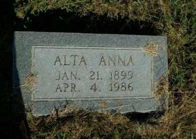 MCGRAW, ALTA ANNA - Boone County, Arkansas | ALTA ANNA MCGRAW - Arkansas Gravestone Photos