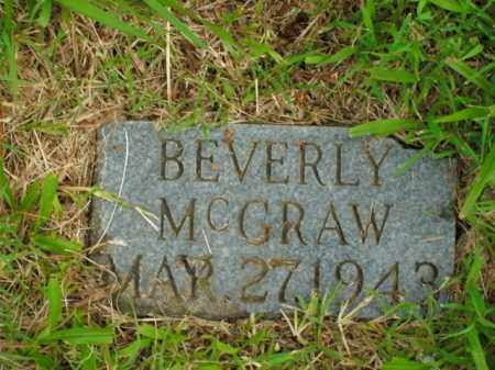 MCGRAW, BEVERLY - Boone County, Arkansas | BEVERLY MCGRAW - Arkansas Gravestone Photos
